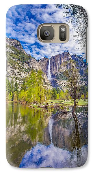 Yosemite Falls In Spring Reflection Galaxy S7 Case