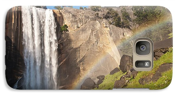 Galaxy Case featuring the photograph Yosemite Mist Trail Rainbow by Shane Kelly