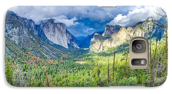 Galaxy Case featuring the photograph Yosemite Tunnel View Spring Storm by Scott McGuire