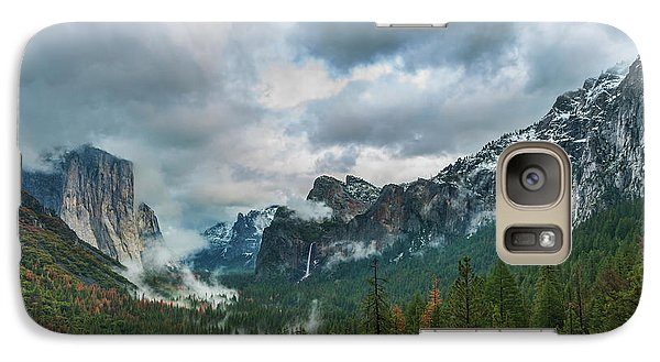 Yosemite Valley Storm Galaxy S7 Case