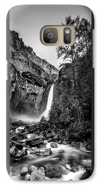 Yosemite Waterfall Bw Galaxy S7 Case by Az Jackson