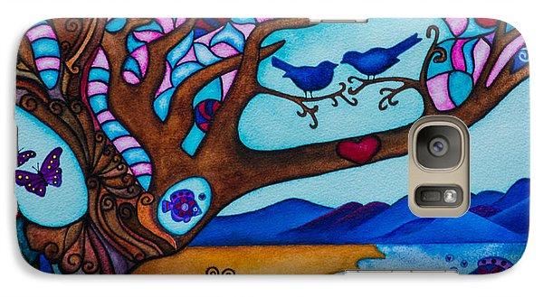 Galaxy Case featuring the painting Love Is All Around Us by Lori Miller