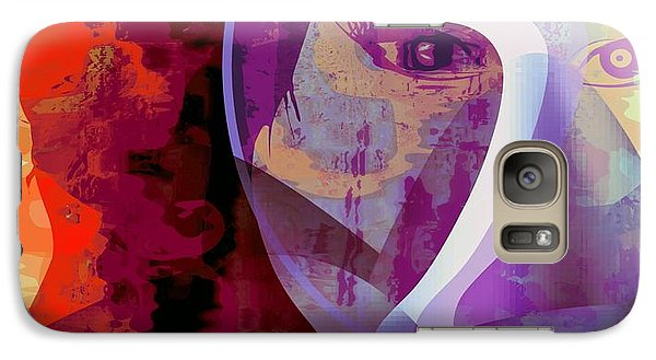 Galaxy Case featuring the mixed media You Can Beat It by Fania Simon