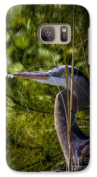 Egret Galaxy S7 Case - You Can't See Me by Marvin Spates