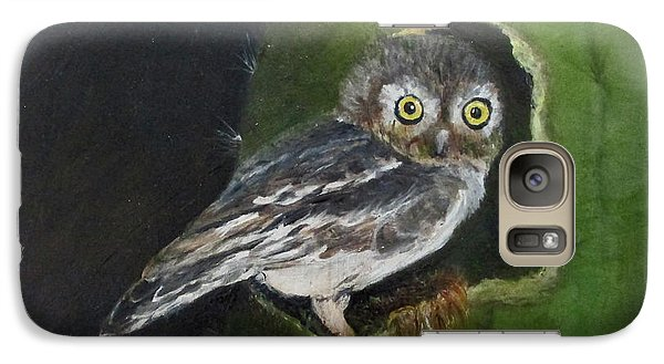 Galaxy Case featuring the painting You Caught Me by Roseann Gilmore