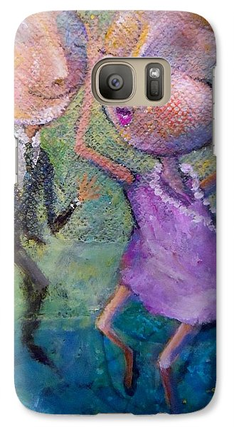 Galaxy Case featuring the painting You Make Me Wanna Dance by Eleatta Diver