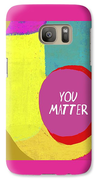 Galaxy Case featuring the painting You Matter by Lisa Weedn