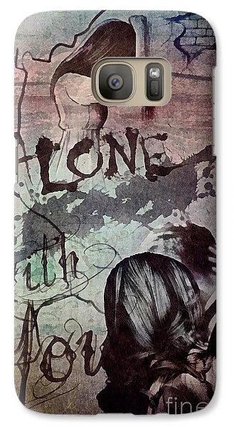 Galaxy Case featuring the mixed media You by Mo T