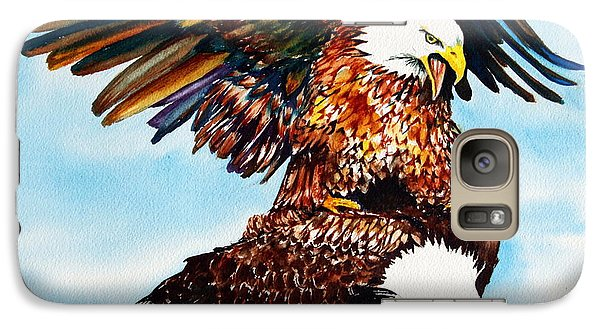Galaxy Case featuring the painting You Ruffle My Feathers by Maria Barry