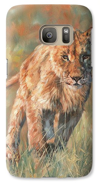 Galaxy Case featuring the painting Youn Lion by David Stribbling