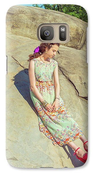 Young American Woman Summer Fashion In New York Galaxy S7 Case