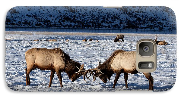 Galaxy Case featuring the photograph Young Bull Elk In Jackson  Hole In Wyoming by Carol M Highsmith