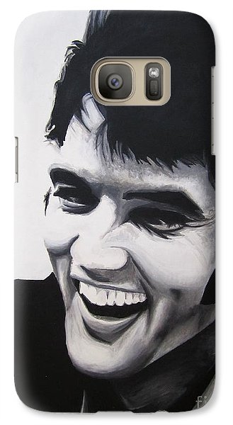 Galaxy Case featuring the painting Young Elvis by Ashley Price