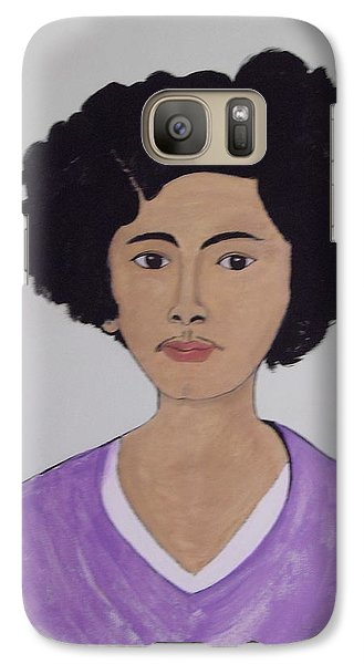 Galaxy Case featuring the painting Young Frida by Stephanie Moore