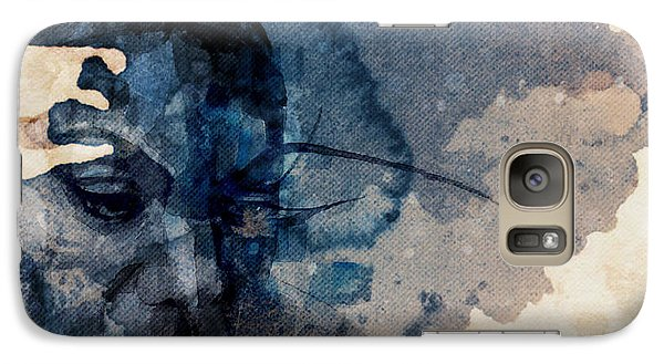 Galaxy Case featuring the mixed media Young Gifted And Black - Nina Simone  by Paul Lovering