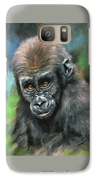 Young Gorilla Galaxy S7 Case by David Stribbling