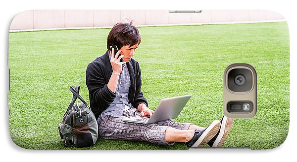 Young Japanese Man Traveling, Working In New York 15041418 Galaxy S7 Case