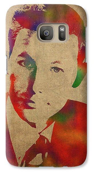 Young Johnny Carson Watercolor Portrait Galaxy S7 Case