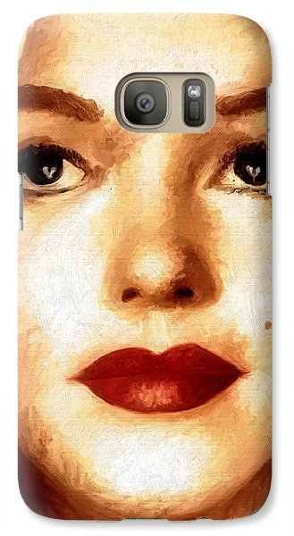 Galaxy Case featuring the painting Young M by James Shepherd