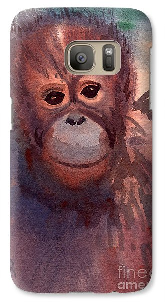 Orangutan Galaxy S7 Case - Young Orangutan by Donald Maier