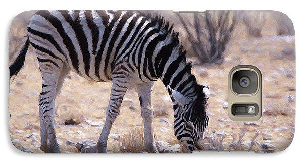 Galaxy Case featuring the digital art Young Plains Zebra by Ernie Echols
