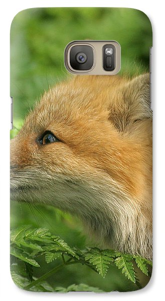 Galaxy Case featuring the photograph Young Red Fox In Profile by Doris Potter