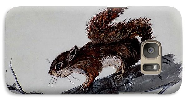 Galaxy Case featuring the painting Young Squirrel by Judy Kirouac