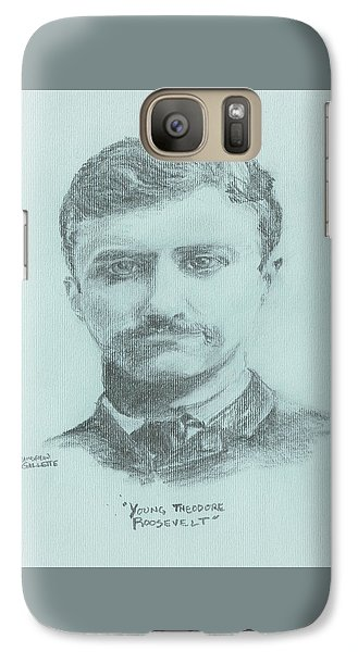 Galaxy Case featuring the drawing Young Theodore Roosevelt by Andrew Gillette