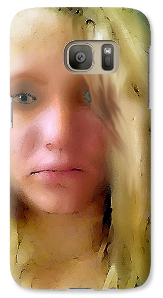 Galaxy Case featuring the digital art Young Woman by Walter Chamberlain