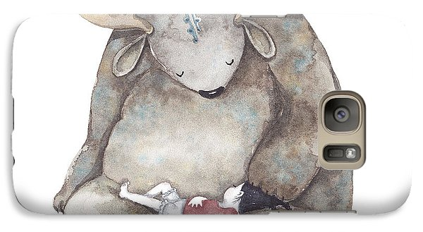 Your Dreams Are Safe With Me Galaxy Case by Soosh