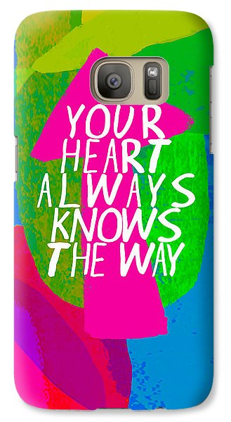 Galaxy Case featuring the painting Your Heart Always Knows The Way by Lisa Weedn