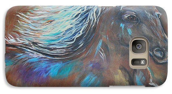 Galaxy Case featuring the painting Your Majesty by Leslie Allen