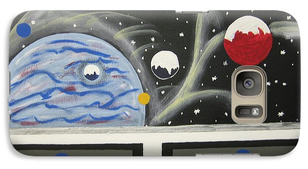 Galaxy Case featuring the painting Your The Pilot  by Jeffrey Koss