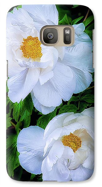 Galaxy Case featuring the photograph Yu Ban Bai Chinese Tree Peonies by Julie Palencia