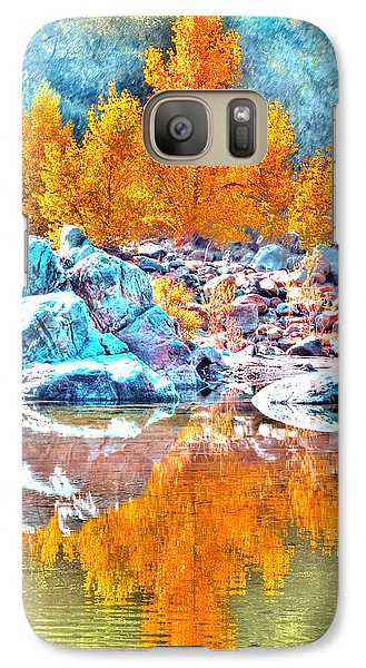 Galaxy Case featuring the photograph Yuba River Fall Reflection by William Havle