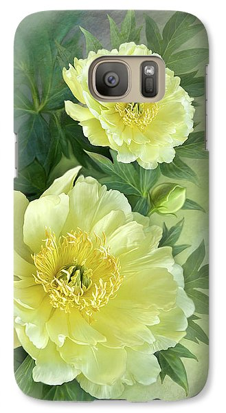 Galaxy Case featuring the digital art Yumi Itoh Peony by Thanh Thuy Nguyen