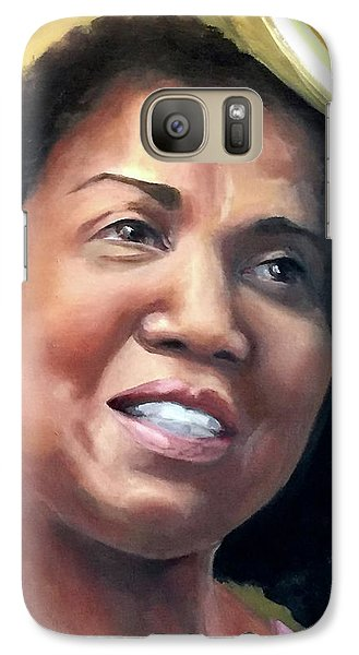 Galaxy Case featuring the painting Yvonne by Diane Daigle