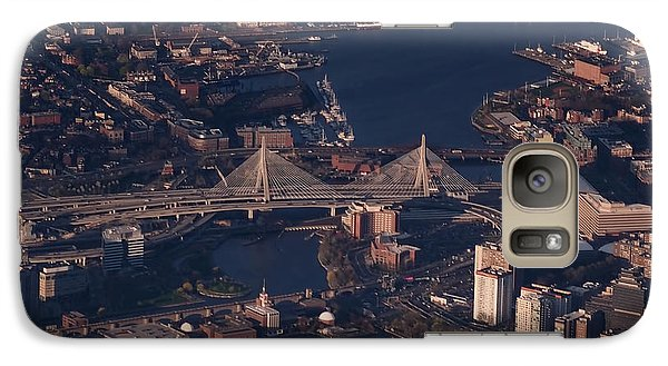 Galaxy Case featuring the photograph Zakim Bridge In Context by Rona Black