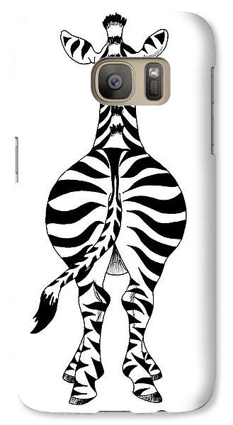 Galaxy Case featuring the painting Zebra by Annemeet Hasidi- van der Leij