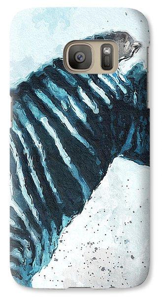 Zebra- Art By Linda Woods Galaxy Case by Linda Woods