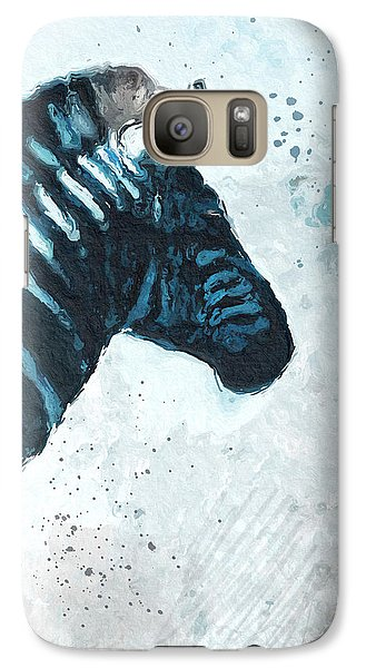Zebra Galaxy S7 Case - Zebra- Art By Linda Woods by Linda Woods