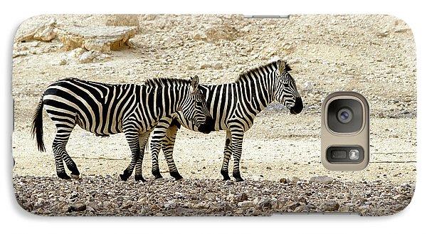 Galaxy Case featuring the photograph Zebra Copy Paste by Arik Baltinester