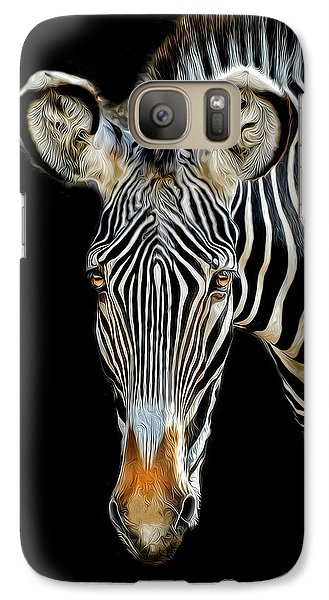 Galaxy Case featuring the photograph Zebra by Dave Mills