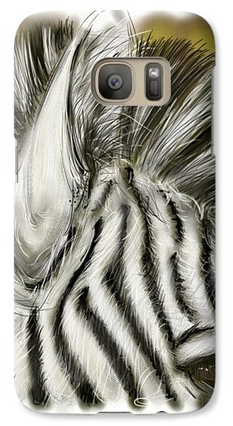 Galaxy Case featuring the digital art Zebra Digital by Darren Cannell
