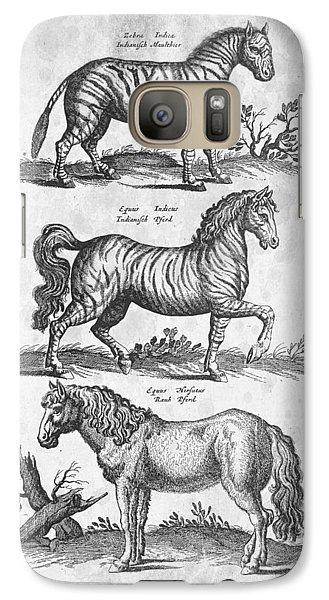 Zebra Historiae Naturalis 1657 Galaxy S7 Case