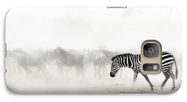 Zebra Galaxy S7 Case - Zebra In Dust Of Africa by Susan Schmitz