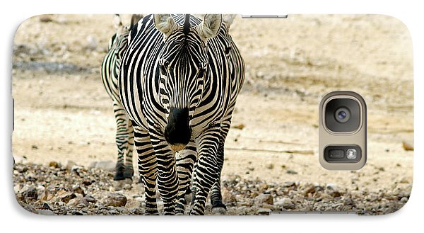 Galaxy Case featuring the photograph Zebra Lineup by Arik Baltinester