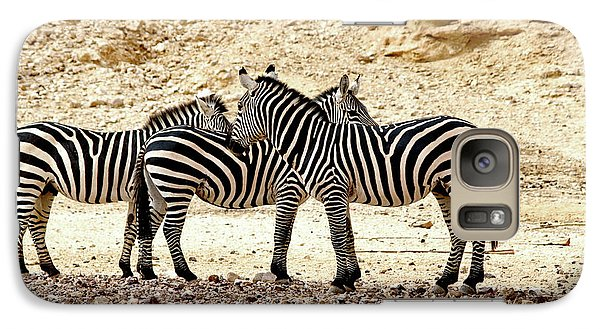 Galaxy Case featuring the photograph Zebra Mix by Arik Baltinester