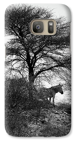 Galaxy Case featuring the photograph Zebra On A Hill  by Ernie Echols