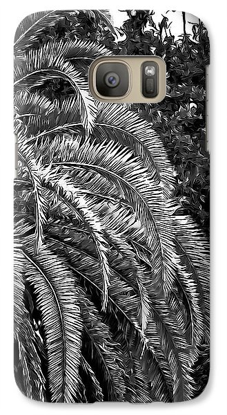 Galaxy Case featuring the photograph Zebra Palm by DigiArt Diaries by Vicky B Fuller
